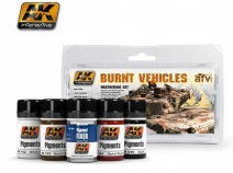AK-Interactive AK-4120 BURNT VEHICLES SET