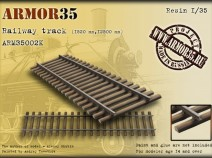 Armor35 ARM35002 К Railway track (1520 mm,12500 mm)- Set of details