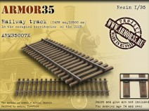 Armor35 ARM35007 К Railway track (1435 mm,12500 mm) In the occupied territories of the USSR - Set of details 1/35