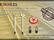 Armor35 ARM35014 The Set of limit signs for the switch sections of railway  1/35