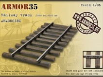 Armor35 ARM35018К Railway track (1520 mm,6000 mm)-Set of details 1/35