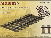 Armor35 ARM35019 К Railway track (1435 mm,6000 mm)-Set of details 1/35