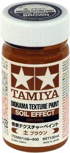 Tamiya 87108 Diorama Texture Paint - Soil Effect: Brown