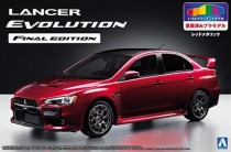 Aoshima 05089 Mitsubishi Lancer Evolution X Final Edition (Red) ЛИТНИКИ ОКРАШЕНЫ!!!