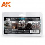 AK-Interactive AK-2037 EXHAUST STAINS WEATHERING SET (AIR SERIES)