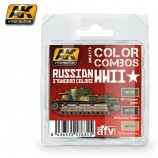 AK-Interactive AK-4173 RUSSIAN WWII STANDARD COLORS COMBO