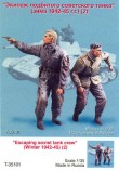 Tank t-35101 Soviet T-34 balling out crew. Two figures. 1/35