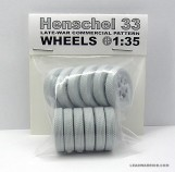 Leadwarrior LW35226 WHEELS SET for HENSCHEL 33D Truck (Late-War Type, Road Pattern)