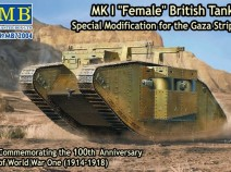 "MasterBox MB72004 MK I ""Female"" British Tank, Special Modification for the Gaza strip."