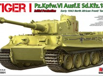 Rye Field Model RM-5001 Tiger I Pz.Kpfw.VI Aust.E Sd.Kfz.181  Initial Production, early 1943 North African Front/Tunisia
