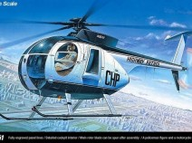 Academy 12249 HUGHES 500D Police Helicopter (1:48)