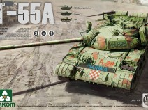 Takom 2056 1/35 Russian Medium Tank T-55A 3 in 1