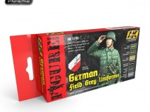 AK-Interactive AK-3140 GERMAN FIELD GREY UNIFORMS