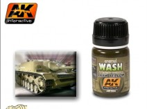 AK-Interactive AK-300 WASH FOR DARK YELLOW VEHICLES