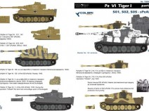 Colibri Decals 72027 Pz VI Tiger I - Part I 501,502,505, sPzAbt