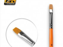 AK-Interactive AK-608 FLAT BRUSH 8 SYNTHETIC