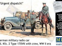 "MasterBox MB35151 ""Urgent Despatch"" German Radio Car Sd.Kfz.2 Type 170VK with Crew 1/35"