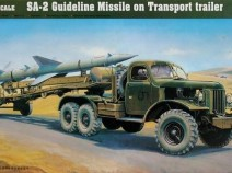 Trumpeter 00204 SA-2 Guindeline Missile on Transport trailer 1/35