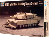 Trumpeter 07277 M1A1 with Mine Clearing Blade System 1/72