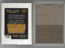Wilder HDF-DT-06 WWII German numbers for vehicles. Variant 1. -Outline- 1/35