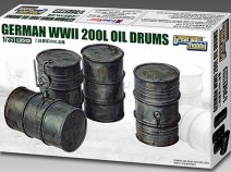 GREAT WALL Hobby L3513 German 200L Oil Drums 1/35