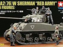 Tamiya 25105 M4A2(76) W Sherman `Red Army` (w/6 Figures) 1/35