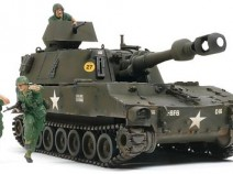 Tamiya 37013 Self-Propelled Howitzer M109 Vietnam War w/3figures 1/35