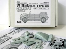 LeadWarrior LW35204 VW Kubelwagen Typ 239 Holzgas ( Gas-Generator ) 1/35 CONVERSION RESIN KIT for TAMIYA Kubelwagen