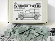 Leadwarrior LW35205 VW Kubelwagen Typ 239 Holzgas/LKW ( Gas-Generator Cargo ) 1/35 CONVERSION RESIN KIT for TAMIYA Kubel
