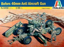 Italeri 6458 BOFORS 40mm Anti Aircraft Gun, 1/35