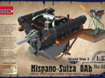 Roden 625 Hispano Suiza 8Ab engine 1/32
