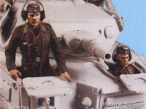 Tank T-35081 German tank crew (driver (bust) & radiooperator. For PzKpfw IV A-E (early series). Summer 1935-44. Two