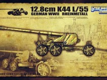 Great Wall Hobby L3523 WWII German Rheinmetall 12.8cm K44 L/55 Anti-Tank Gun, 1/35