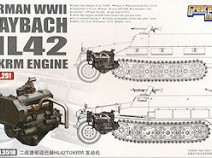 Great Wall Hobby L3518 Maybach HL 42 TUKRM Engine 1/35 (SdKfz 251 всех вариантов), 1/35