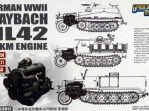 Great Wall Hobby L3517 WWII German Maybach HL42 TUKRM Engine set for 250/DEMAG/11, 1/35