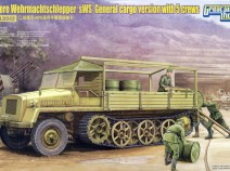 Great Wall Hobby L3512 S Resin Tarp for Schwere Wehrmachtschlepper sWS
