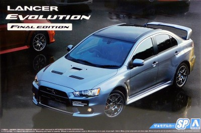 "Aoshima 05164 Mitsubishi Lancer Evolution X Final Edition""15"