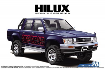 "Aoshima 05228 Toyota HiLux Pick Up Double Cab ""94 LN107"