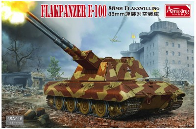 Amusing Hobby 35A016 Flakpanzer E-100 with 88MM FLAKZWILLING