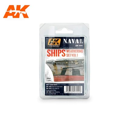 AK-Interactive AK-555 SHIPS WEATHERING SET VOL.1