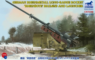 Bronco CB35048 German Rheinmetall Long-Range Rocket 'Rheinbote' (Rh.Z.61/9) and launcher