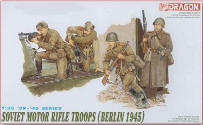 "Dragon 6019 1/35 WWII Soviet Motor Rifle Troops (Berlin ""45) (4 Figures)"