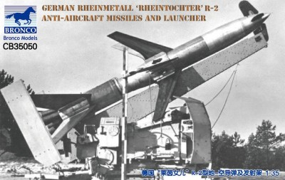 Bronco CB35050 1/35 German Rheinmetall 'Rheintochter' R-2 anti-aircraft missiles and launcher