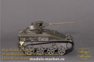 Magic Models MM35150 20 mm Rheinmetall MK 20 Rh202 autocannon. Luchs, Wiesel, Marder