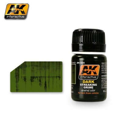 AK-Interactive AK-024 STREAKING GRIME FOR DARK VEHICLES