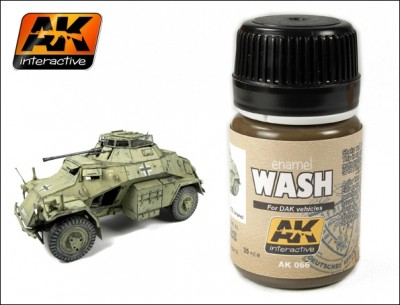 AK-Interactive AK-066 WASH FOR AFRIKA KORPS VEHICLES