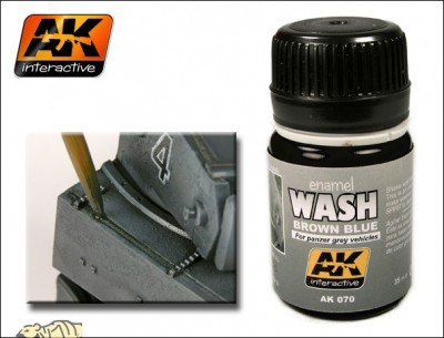 AK-Interactive AK-070 WASH FOR PANZER GREY VEHICLES