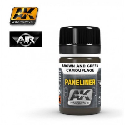 AK-Interactive AK-2071 PANELINER FOR BROWN AND GREEN CAMOUFLAGE