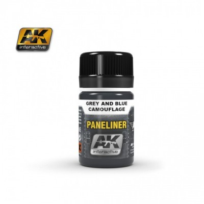 AK-Interactive AK-2072 PANELINER FOR GREY AND BLUE CAMOUFLAGE