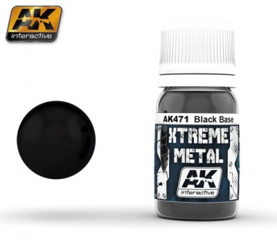 AK-Interactive AK-471 XTREME METAL BLACK BASE